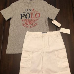 Boys size 5 shirt and shorts set. New with tags!